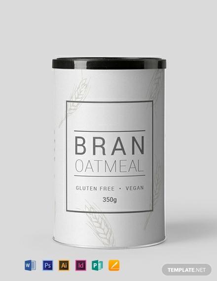 simple restaurant food label template