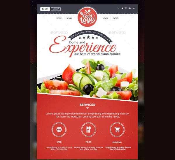 simple-restaurant-newsletters-template