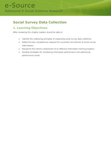 simple social survey in pdf