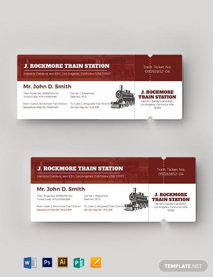simple train ticket
