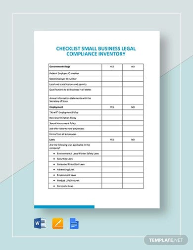 small-business-legal-compliance-inventory-template