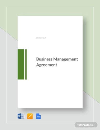 small business management agreement