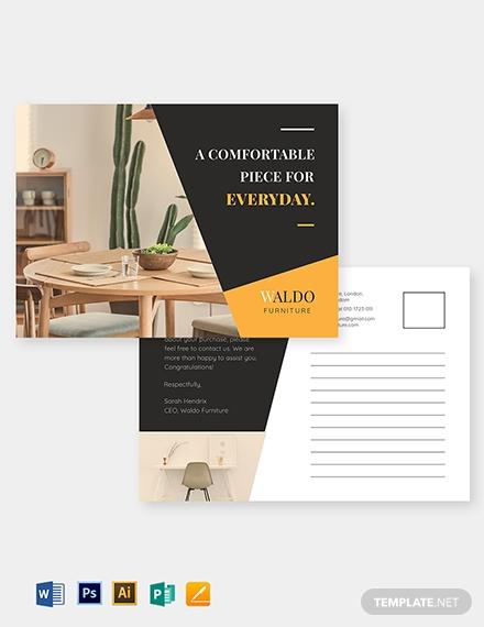 small business marketing postcard template