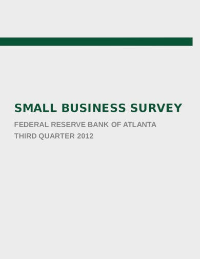 small business survey template