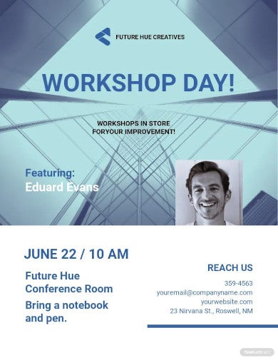small business workshop flyer template