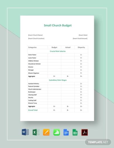 small church budget template1