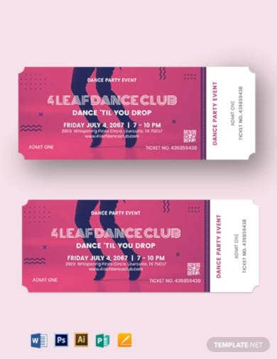 small event ticket template