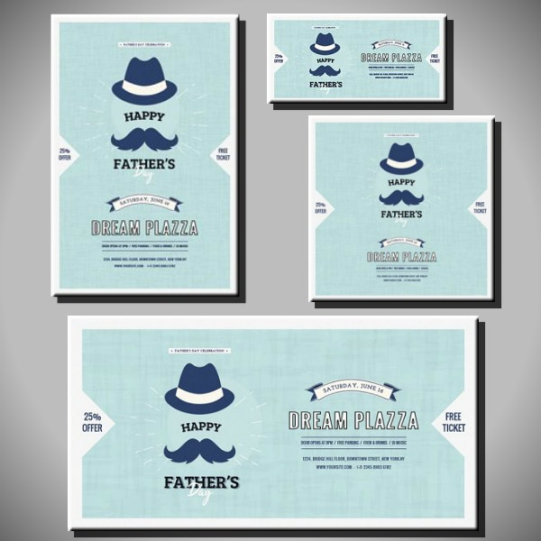 social media fathers day designs
