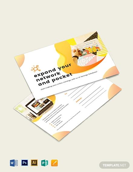 social media marketing postcard template 1