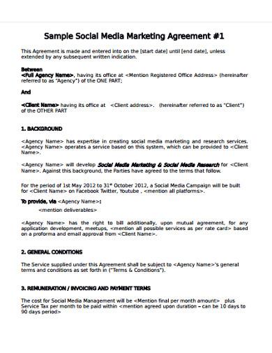social media marketing services agreement