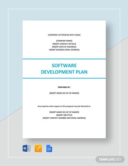 software development plan template