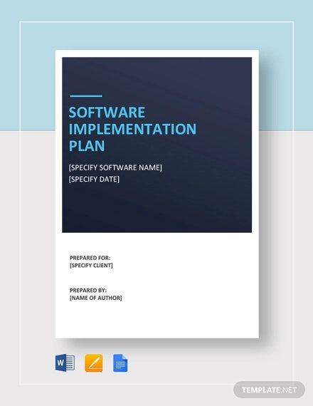 software implementation plan template