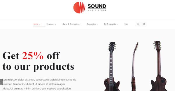sound online store wordpress music theme