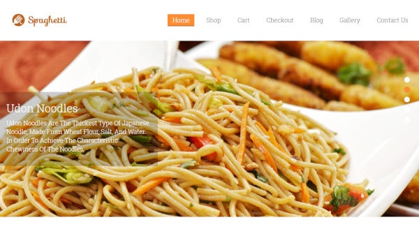 spaghetti – customer friendly wordpress theme