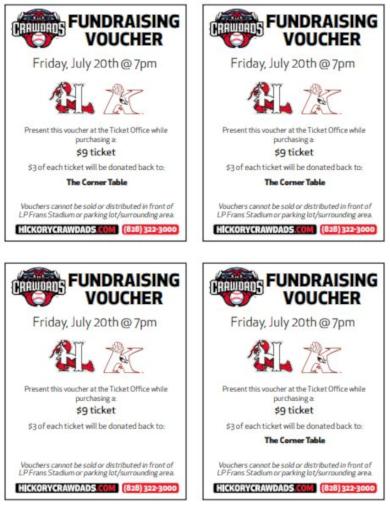 sports fundraising voucher template sample