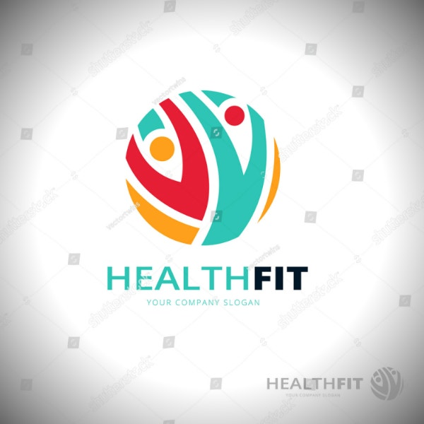 sports health fitness logo example