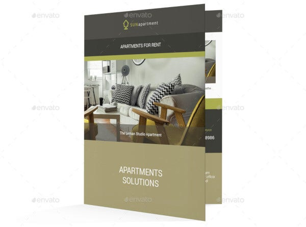 standard apartment brochure template