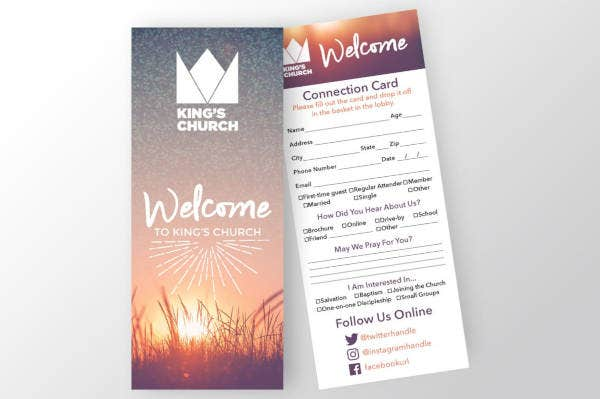 standard church connection card
