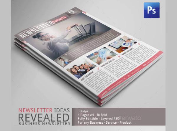 standard company newsletter template