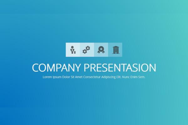 standard company presentation template