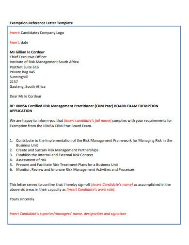 standard company reference letter template