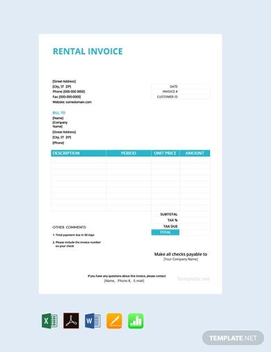 standard-free-rental-invoice-template