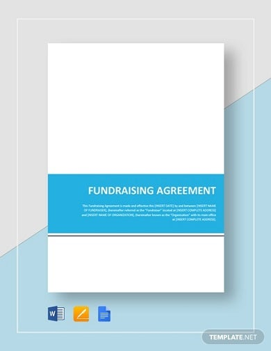 standard fundraising agreement template