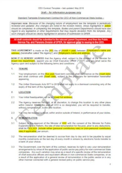 standard legal contract employment template1