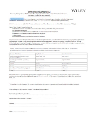 standard legal form template