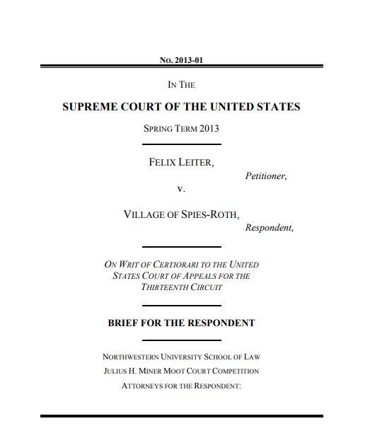 standard legal statement brief template