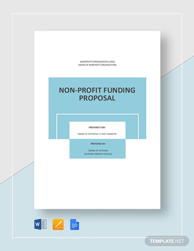 standard non profit fundraising proposal template