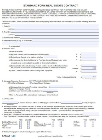 15+ Real Estate Contract Templates - PDF, Word, Pages