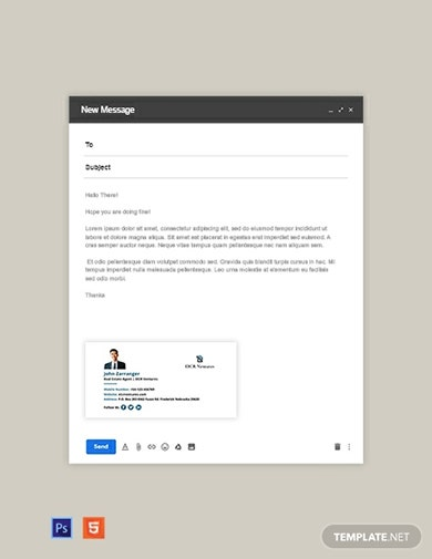 standard real estate email signature template