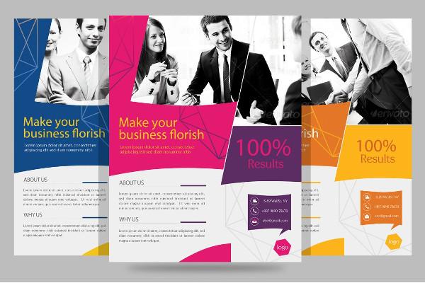 standard small business flyer template