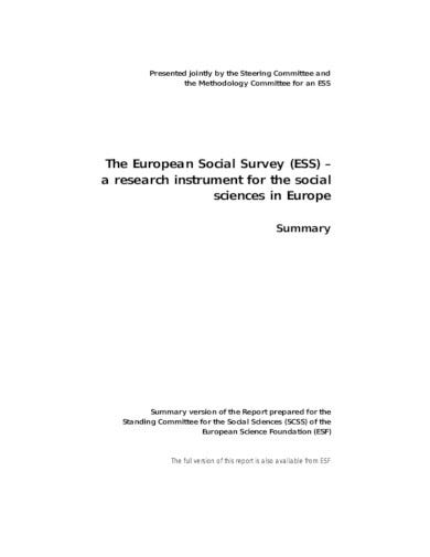 standard social survey in pdf
