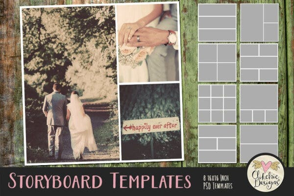 standard storyboard photoshop templates