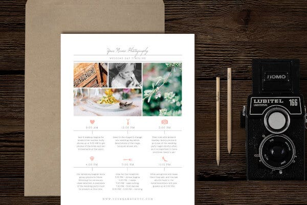Wedding Photographer Timeline Template