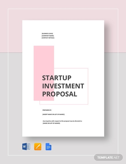 startup investment proposal