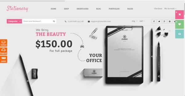Stationery - Ajax Based WordPress Theme