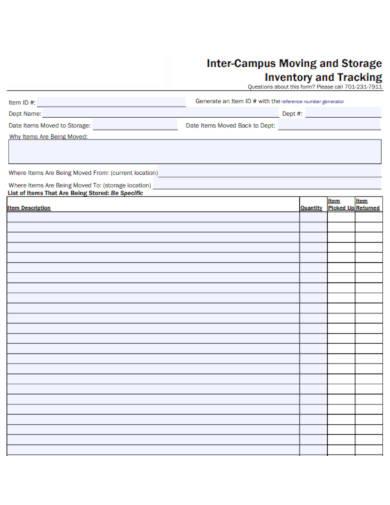 storage inventory list template