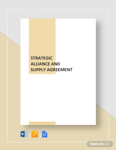 strategic alliance and supply agreement