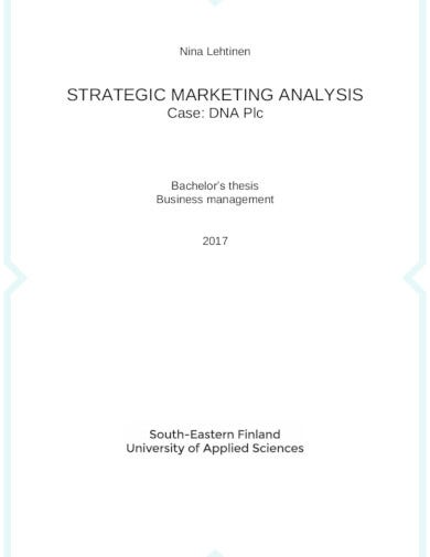 strategic marketing analysis template