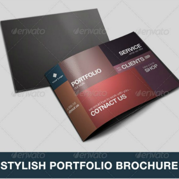 stylish portfolio catalog brochure template