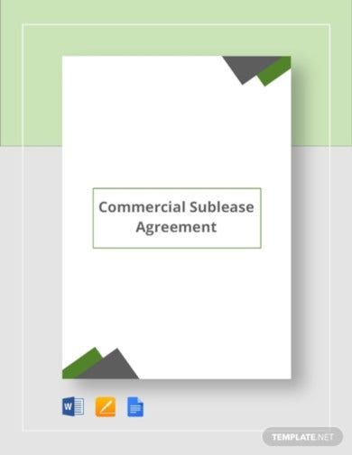 sublease tenant agreement template