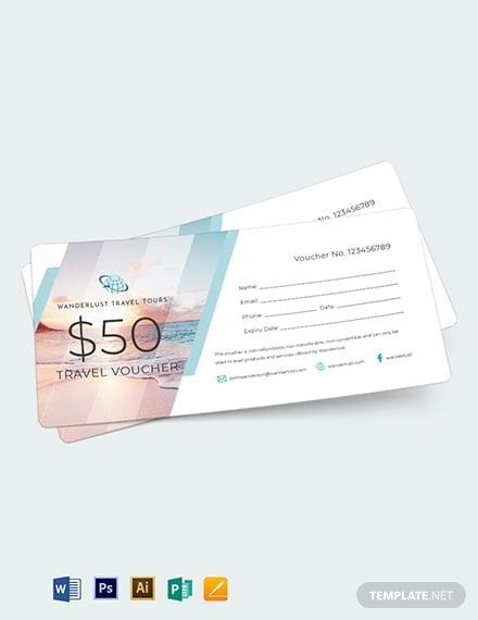 summer travel voucher template