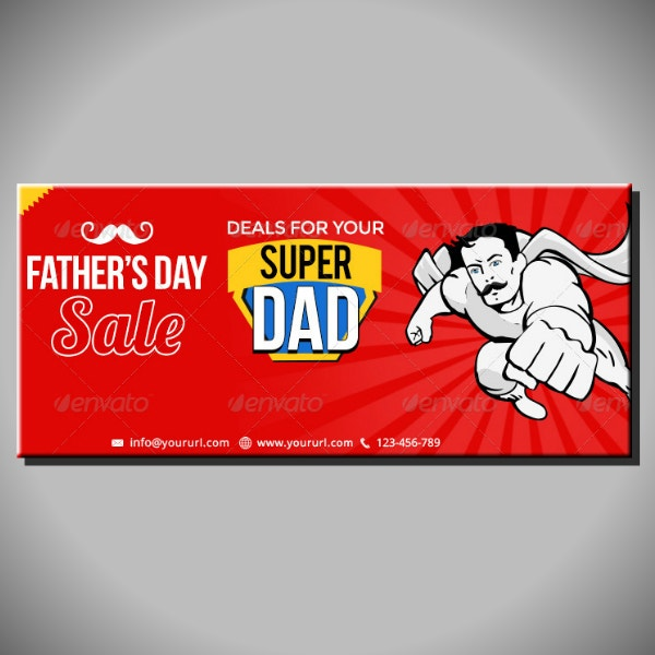 super dad facebook cover layout
