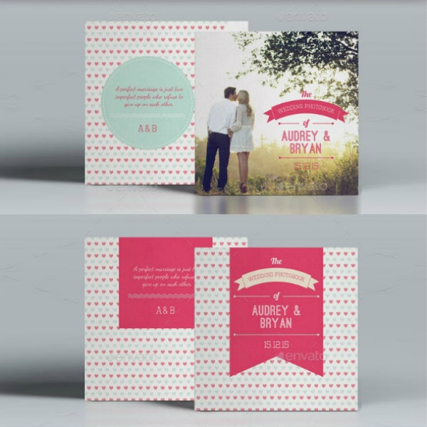sweet pink wedding photobook layout