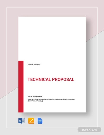 Technical Proposal Templates 22 Free Sample Example Format Download Free Premium Templates