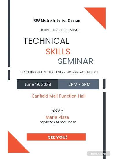 technical seminar invitation template