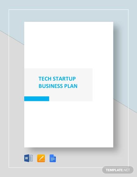 technology startup business plan template